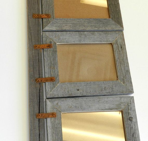 Barnwood Collage Frame For 3 Vertical 5x7s By Abwframes On