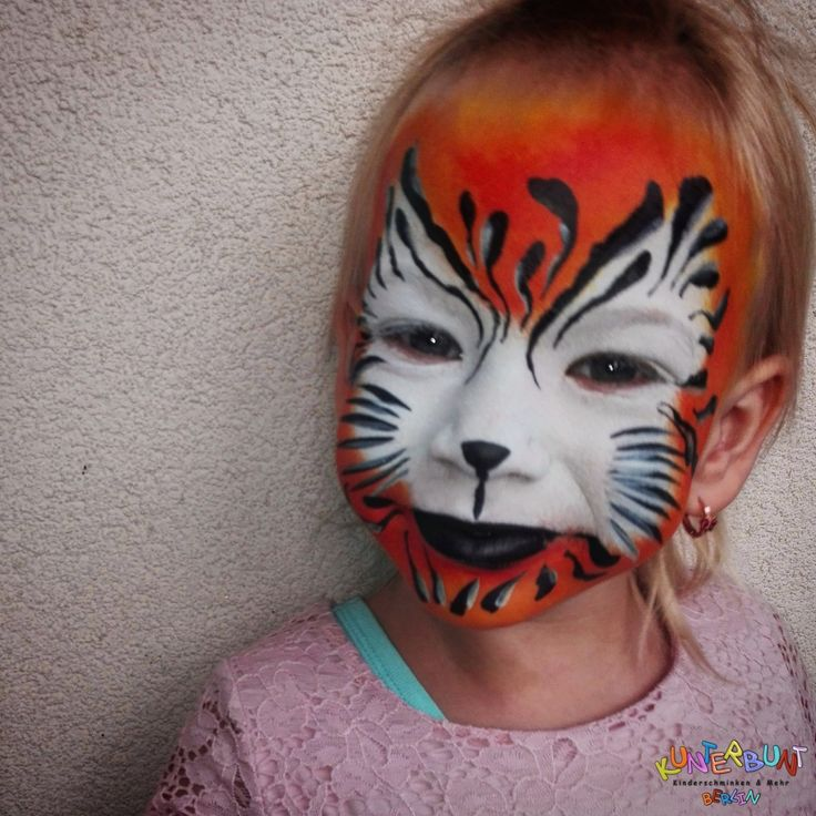 Der kleine Tiger ist wohl der Klassiker, nebst Schmetterling und Prinzessin. Sieht oftmals schwer aus, ist aber mit etwas Feingefühl und ruhiger Hand wirklich einfach :) © by http://www.kunterbuntberlin.de