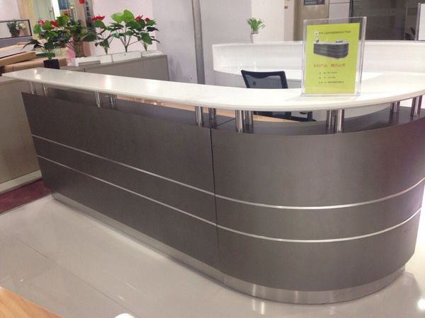 Small Reception Desks | 2014 new hot sell modern unique used cheap office small reception desk