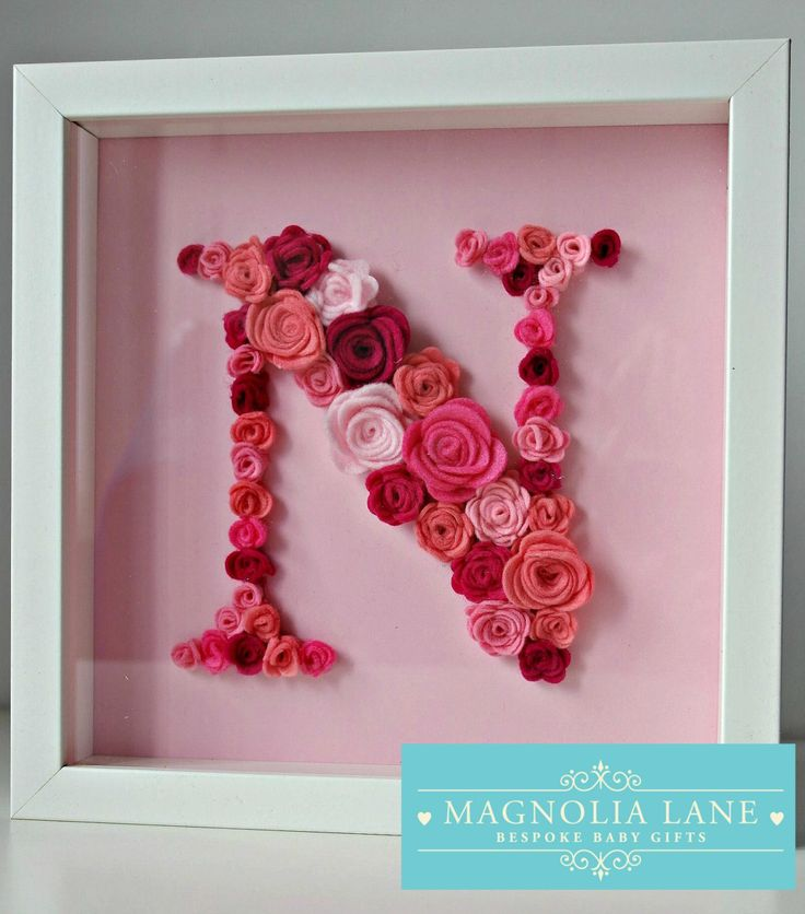 Personalised/ Personalized Letter gift for new baby/ birthday/ christening gift, Wall art, in frame, roses, bedroom nursery art decor by 10MagnoliaLane on Etsy