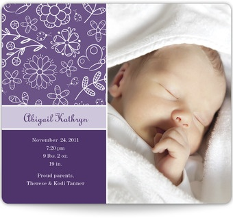 Magnetic Birth Announcements - Girly Girl