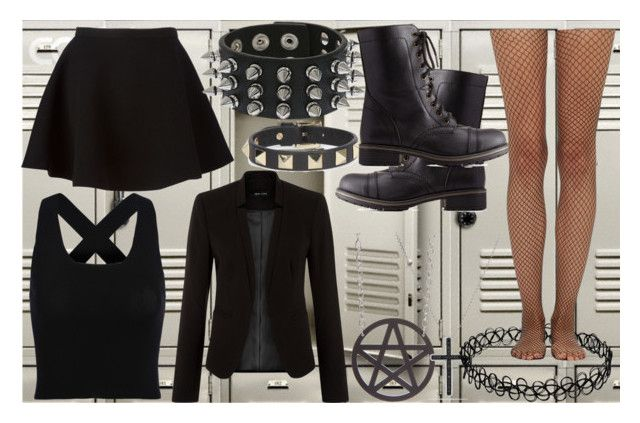 My first day in school by slytheriner on Polyvore featuring Neil Barrett, Wolford, Charlotte Russe, David Yurman and Valentino