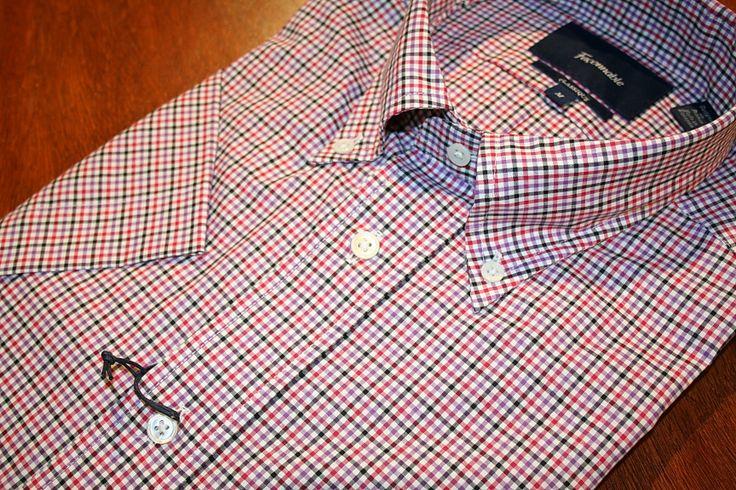 Faconnable Short Sleeve Shirt   Red Check   #Mondo #Uomo #Naples #Fashion