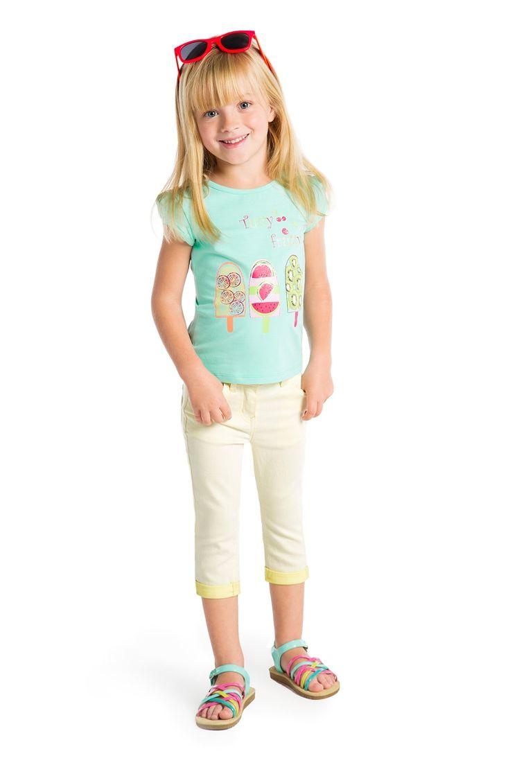 #T-shirt fille collection printemps été avec print fantaisie glaces #modeenfant - www.shop-orchestra.com