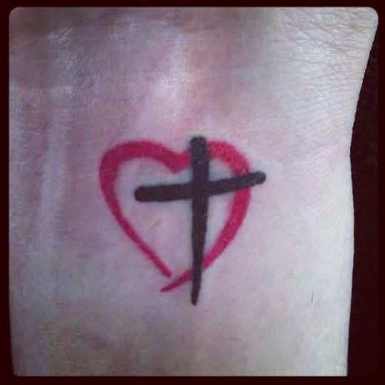 25+ Best Cross Heart Tattoos Ideas On Pinterest