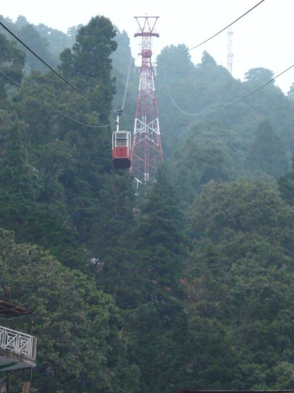 Cable car to top of hill around Nainital
