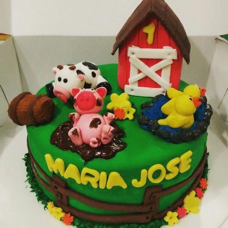 Granja cake cow pig duck