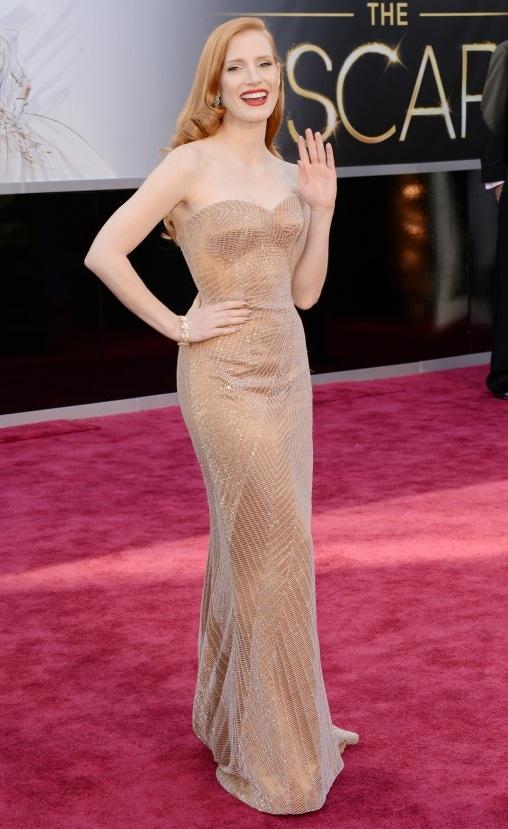 Jessica Chastain Oscars Dress: Happy Birthday, Mr. President!
