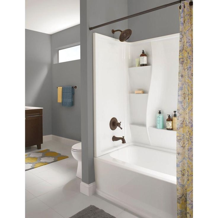 Delta classic 400 32 in x 60 in x 60 in 3 piece direct for 3 piece bathroom ideas