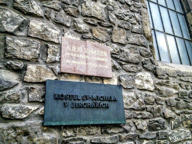 """Albert Schweizer (born 1875 in Kaysersberg, died 1965 in Lambarene) held concerts here in 1923 and 1928."" [Czech]"