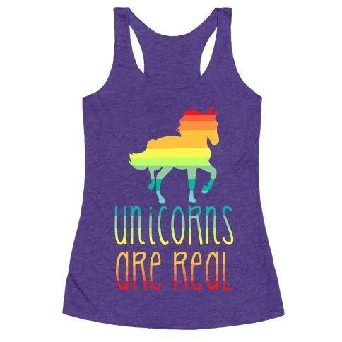 Rainbow Unicorns Are Real Racerback