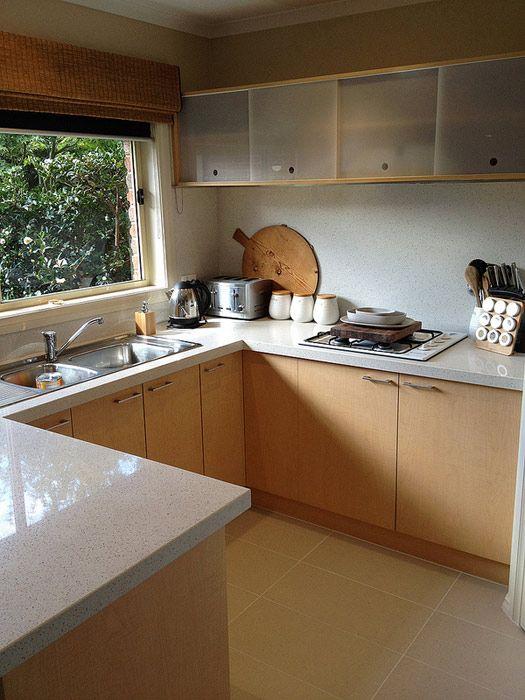 clean, mid century kitchen remodel