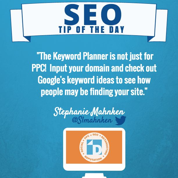 Keyword Planner is for PPC & SEO! Input your domain & look at Google's keyword ideas to see how people may be finding your site.  #SEO #PPC #Google #KeywordPlanner