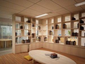 Ruang baca di kantor menambah semangat pekerja untuk senantiasa mengupgrade diri dengan suasana yang nyaman.