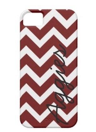 Maroon Texas A & M Aggies Chevron Phone Case. $24.99, via Etsy.