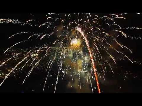 Fireworks from a drone