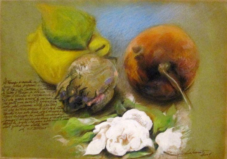 Omaggio alla poesia e a T.S. Eliot cm 21x30 Tecnica: Stampa digitale, inchiostri, matite colorate e pastelli su carta  Anno 2009