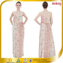 OEM 2016 New Sleeveless Beaded Mesh Printed Chiffon Maxi Casual Dresses Best Seller follow this link http://shopingayo.space