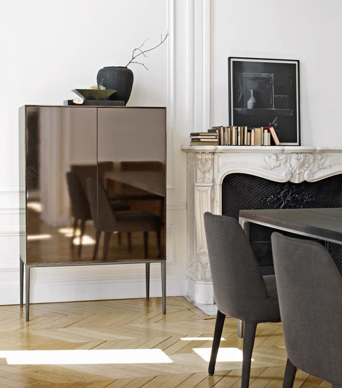 Bronze mirrored Orione highboy by Antonio Chitterio for Maxalto.