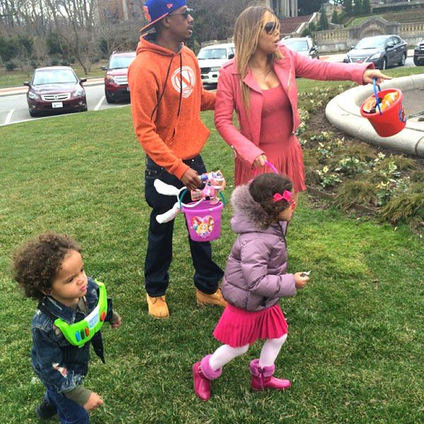 Nick Cannon and Mariah Carey Reunite and Treat Dem Babies to an Easter Egg Hunt?Take a Look!