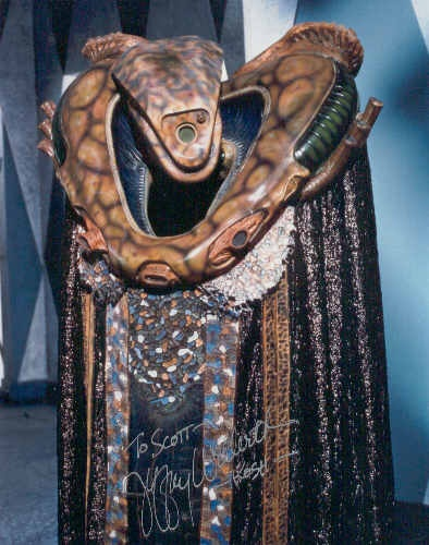 Kosh, from Babylon5 - my own prejudice is for aliens to seem very ALIEN, as opposed to humans in makeup.