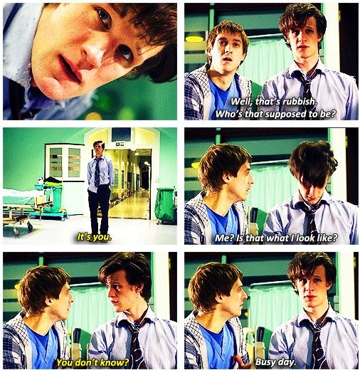 Eleventh Doctor and Rory [gif] - The Eleventh Hour, Season 5 <--one of my favorite scenes ever.