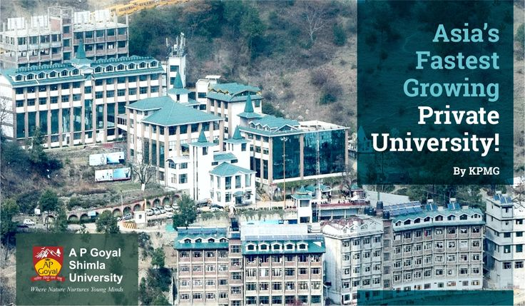 By the virtue of its #unique #academic model, #excellent #placement record, #qualified & #experienced #faculty, state-of-the-art #AcademicInfrastructure, the students has made AP Goyal #Shimla #University as most preferred destination to pursue their #HigherEducation. As a result the university is growing at an exponential rate which had made #AGU as #Asia's #Fastest #Growing #Private #University by #KPMG #India.