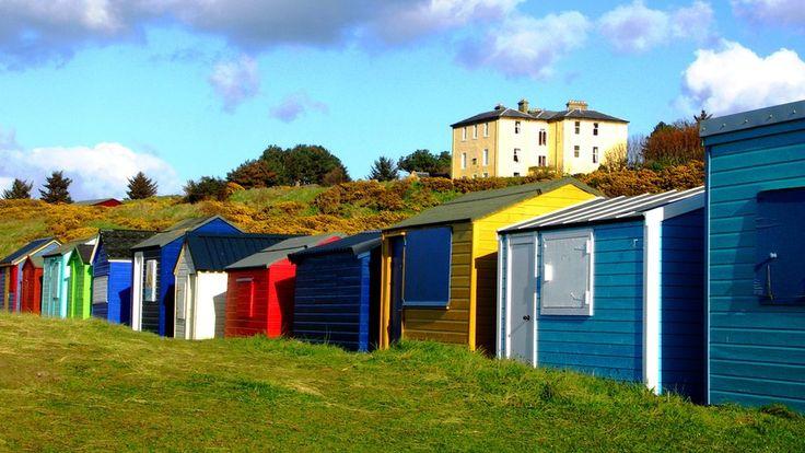Beach huts, Morayshire, Scotland