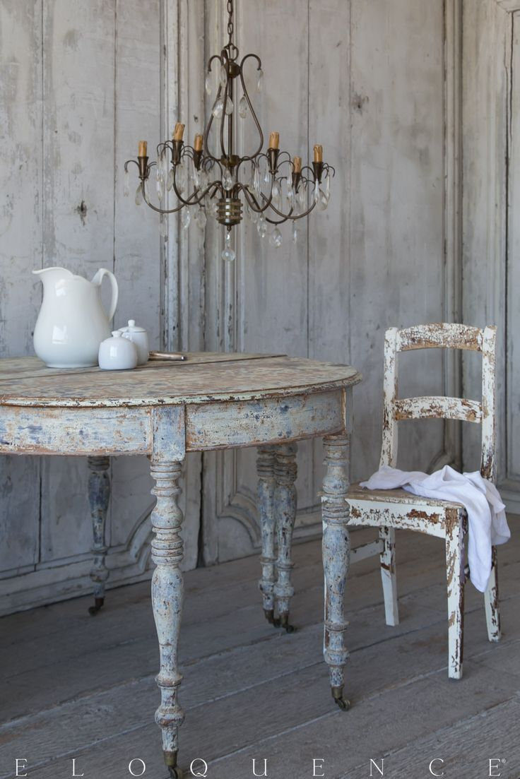 ELOQUENCE® Antique French Demi Lune Tables, Circa 1910