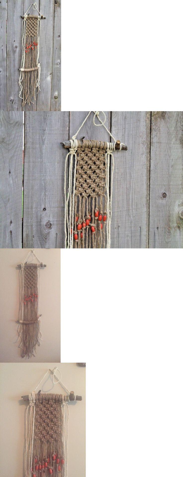 Wall Hangings 83904: New Driftwood-Macrame-Wall-Hanging Jute Boho Hippie Modern Vintage Diy Hgtv -> BUY IT NOW ONLY: $42 on eBay!