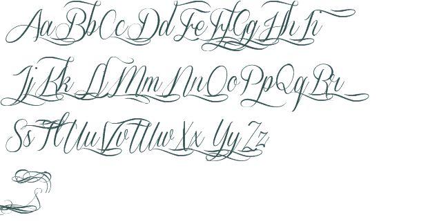 Script font tattoo letters free cursive fonts for Cursive script tattoo fonts