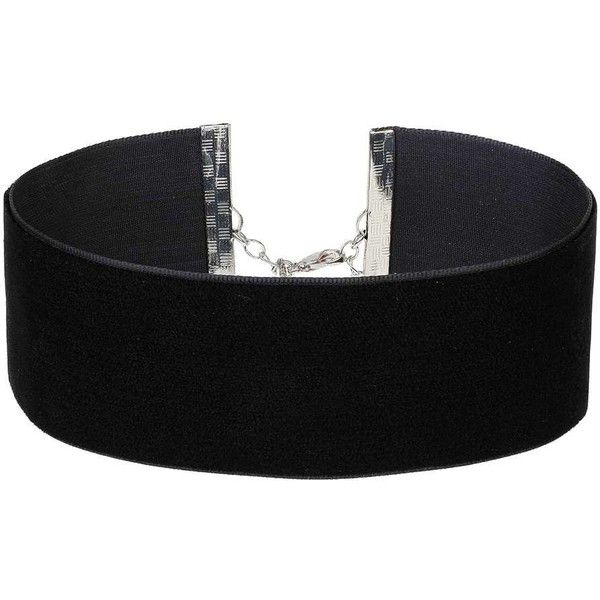 Miss Selfridge Thick Velvet Choker (46 BRL) ❤ liked on Polyvore featuring jewelry, necklaces, black, choker jewelry, velvet jewelry, thick necklace, choker necklaces and velvet necklace