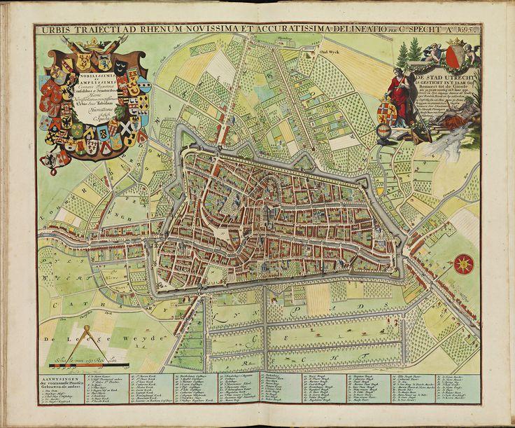 Stedenboek Frederik de Wit met de stad Utrecht, 1695