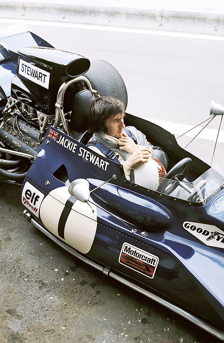 Jackie Stewart, Tyrrell-Cosworth 005. From the days when men were still men.