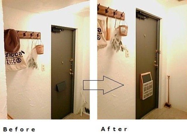 原状回復ok 玄関ドアポストの設置方法と簡単な作り方 2020 玄関