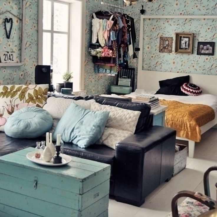 Studio Apartment Cute And Cozy U2013 I Love The Boxy Wooden Coffee Table Trunk,  Gorgeous! Studio Apartment Cute And Cozy U2013 I Love The Boxy Wooden Coffee  Table ...