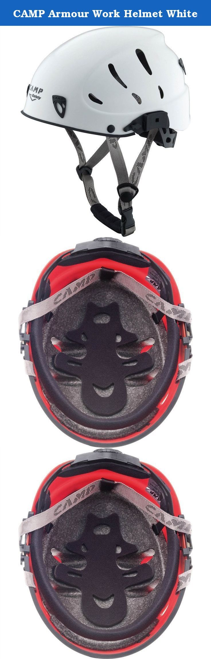 CAMP Armour Work Helmet White. The Armour Work is an upgraded model of the standard Armour and now includes slots for cap attached ear protectors. Armour Work is a light and comfortable helmet with an attractive design, now with a proprietary visor option. Designed for Industrial use. Includes mountaineering certification which meets the new regulations for work at heights, for applications where the chin strap must not be releasable and the helmet can withstand multiple blows from…