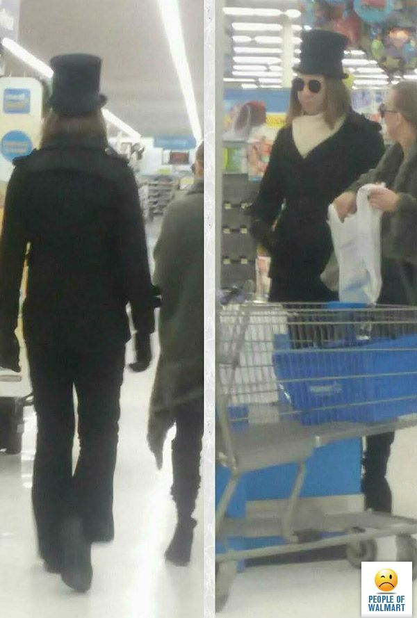 Dude. For real. If you're going to walk around this world dressed like Willy Wonka at least dress like the real Gene Wilder Willy Wonka and not the weird Johnny Depp Wonka. http://www.peopleofwalmart.com/page/7/