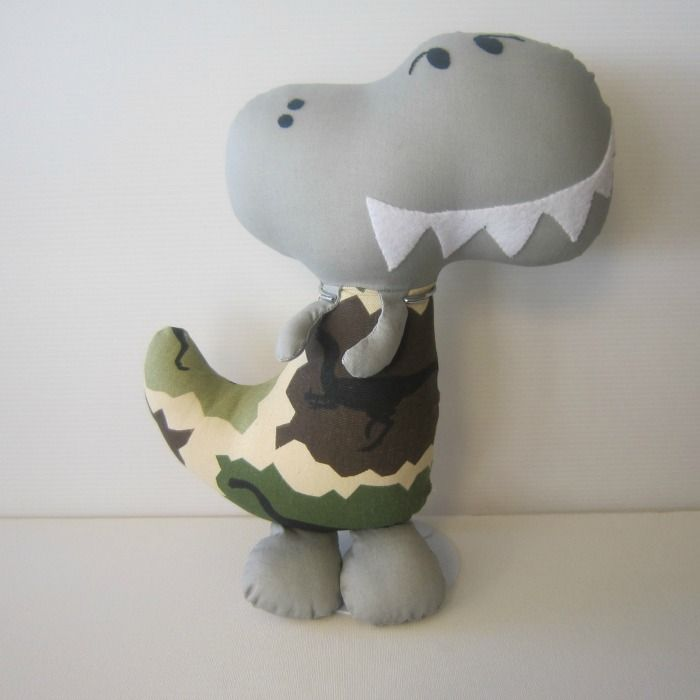 Fabric Dinosaur Softie | Chelle Belle | madeit.com.au