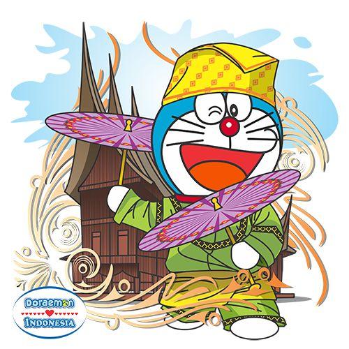 Kali ini Doraemon memperagakan sebuah tarian terkenal Indonesia, Tari Payung yang berasal dari Minangkabau, Sumatera Barat. Dengan Rumah Gadang sebagai background, membuat nuansa Indonesia semakin kental. Tunggu apa lagi? Grab it fast buat kamu yang cinta Doraemon dan Indonesia :) #Kaos #Desain #Baju #Design #TShirt #Doraemon #Rupawa