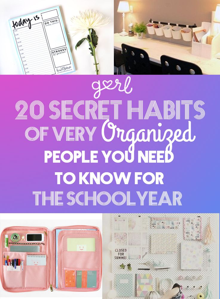 20 Secret Habits Of Very Organized People You Need To Know For The School Year http://espanishlessons.com/spanish-vowels/