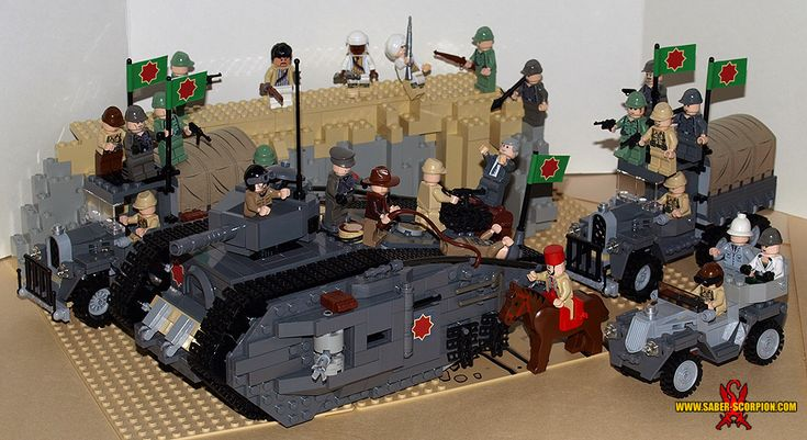 Indiana Jones and the Last Crusade Tank Scene: A LEGO® creation by Justin Saber-Scorpion Stebbins : MOCpages.com