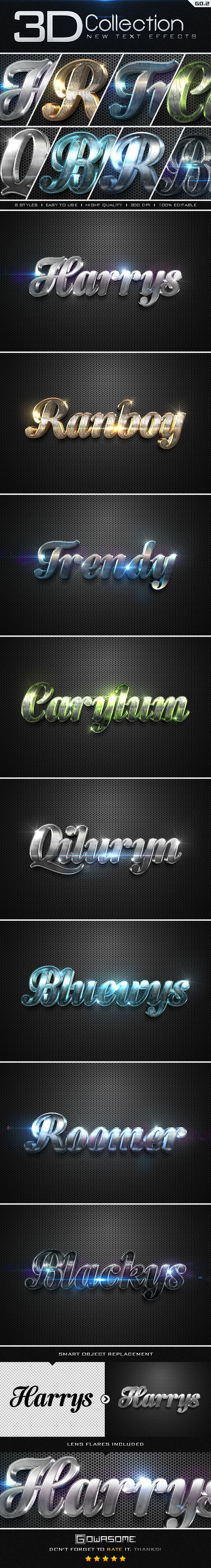New 3D Collection Text Effects GO.2. Download here: http://graphicriver.net/item/new-3d-collection-text-effects-go2/9609990?ref=ksioks