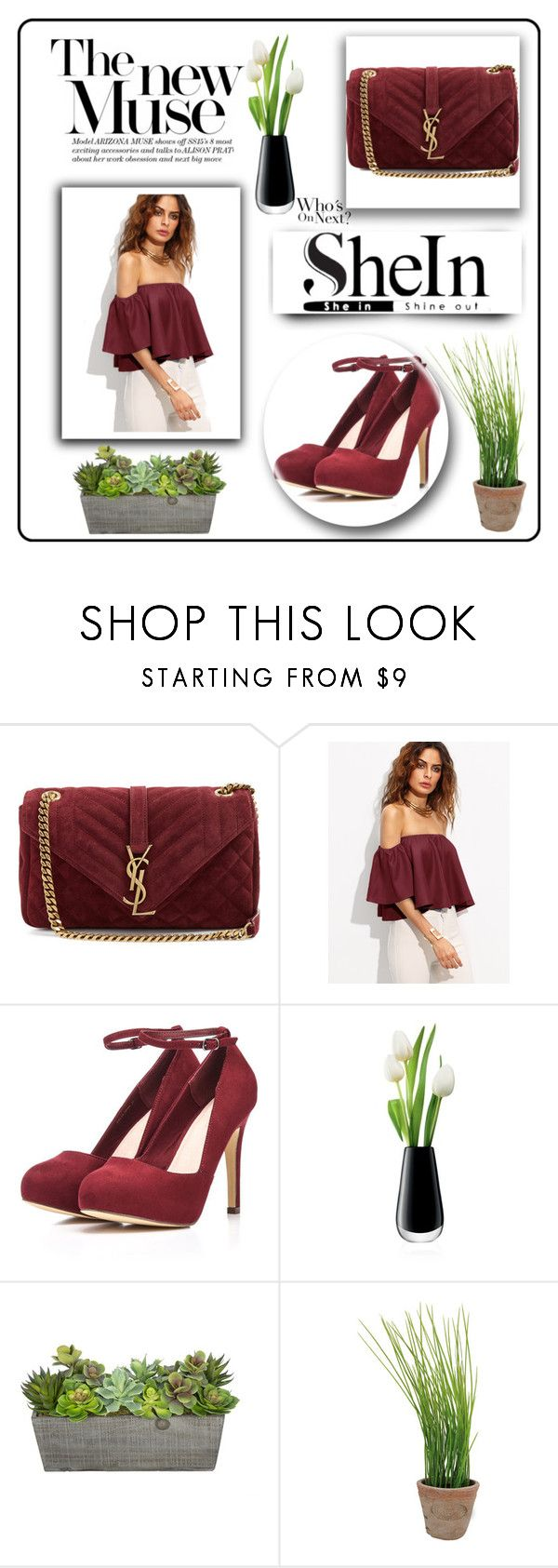 """""""shein"""" by hamza-ii ❤ liked on Polyvore featuring Yves Saint Laurent, LSA International and Esschert Design"""