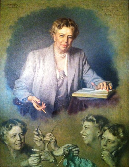 Eleanor Roosevelt's portrait at the White House. Complement with Roosevelt on happiness, conformity,