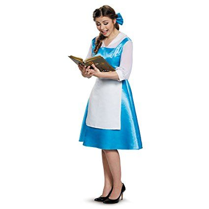 Belle Blue Dress Adult Costume, Womens, Medium 8-10