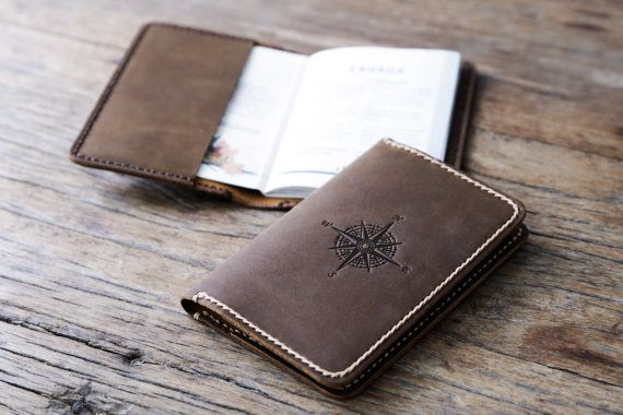 Cartera pasaporte, pasaporte libro cubierta, carpeta de cuero del pasaporte de la personalizada, viajes monedero, caja del pasaporte, sostenedor del pasaporte, carpeta de documento