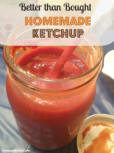 This easy homemade ketchup recipe is now coined the Better than Bought Ketchup because it's that good and easy to make. With all natural ingredients, it's the perfect healthy homemade ketchup recipe.