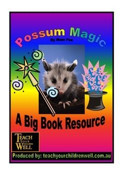 Big Book Activities - Possum MagicGo ahead and DOWNLOAD it. It's FREE! Here we are just sharing some more freebies that we put together and used in the classroom with K-2 when using this Big Book.Contains language activities that enable the teacher to better integrate this book into the classroom.