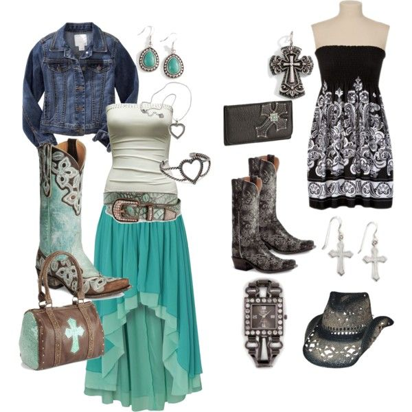 Im not a dress kind of girl but this is suppa cute!! sexy cowgirl, created by realtreegirl1 on Polyvore